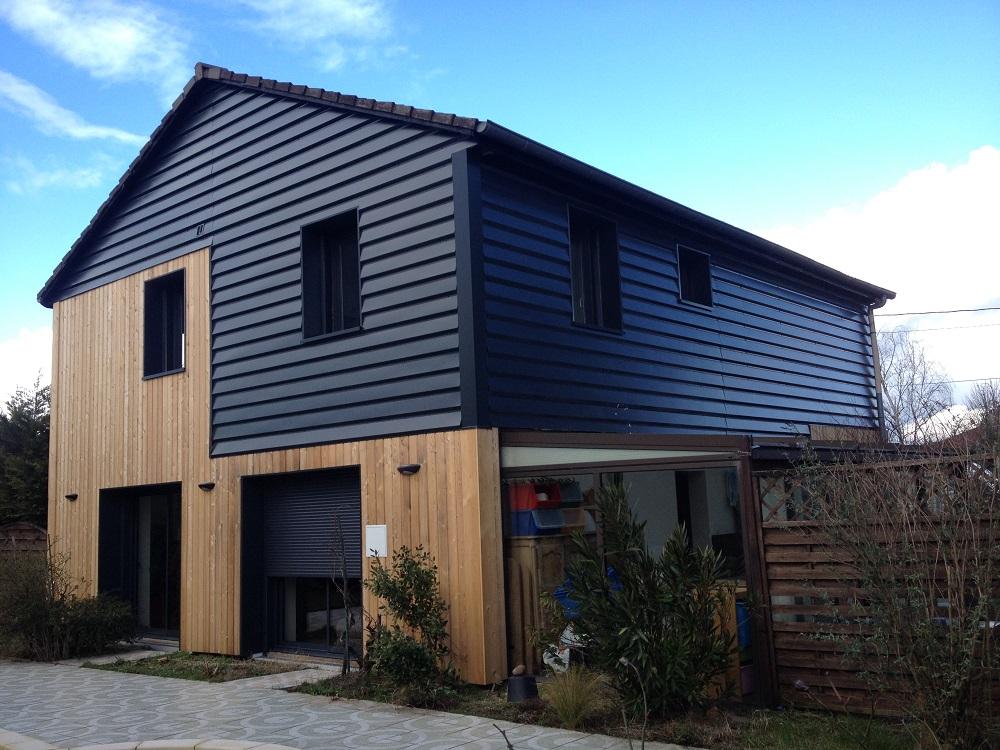 Maison bardage acier blitz blog for Bardage pour maison ossature bois